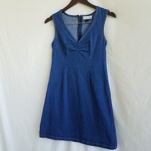 Vintage denim shift dress